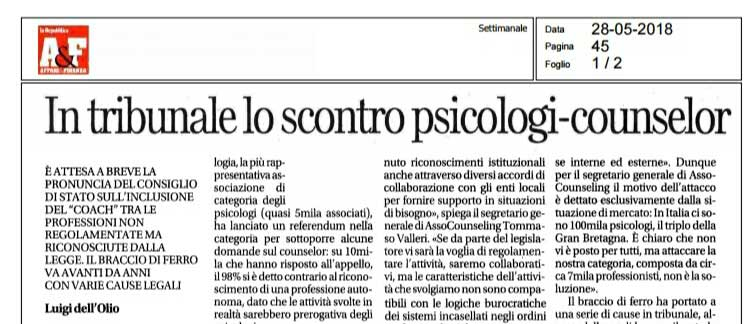 Counselor, Coach e Psicologi. Una questione aperta